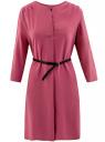 Платье вискозное с ремнем oodji #SECTION_NAME# (розовый), 11900180/42540/4A00N