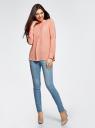 Блузка вискозная А-образного силуэта oodji #SECTION_NAME# (розовый), 21411113B/26346/5401N - вид 6