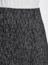 Юбка-трапеция короткая oodji для женщины (серый), 11600413-8/46968/2912O