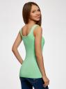 Майка базовая oodji для женщины (зеленый), 14315001B/45307/6500N