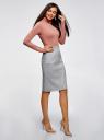 Водолазка базовая облегающая oodji для женщины (розовый), 15E11001-1B/45297/4B01N
