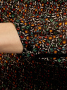 Блузка гофрированная с завязками oodji #SECTION_NAME# (зеленый), 11414005/46166/6C55F - вид 5