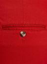 Брюки базовые хлопковые oodji #SECTION_NAME# (красный), 11706204B/46777/4500N - вид 5