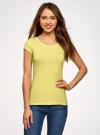 Комплект футболок с вырезом-капелькой на спине (3 штуки) oodji #SECTION_NAME# (желтый), 14701026T3/46147/6700N - вид 2
