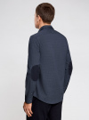 Рубашка принтованная с заплатками на локтях oodji #SECTION_NAME# (синий), 3L310136M/39749N/7923G - вид 3