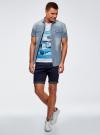 Рубашка джинсовая приталенная oodji #SECTION_NAME# (синий), 6L510000M/35771/7500W - вид 6