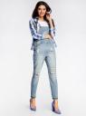 Комбинезон джинсовый с декоративными потертостями oodji #SECTION_NAME# (синий), 13108002/45254/7000W - вид 6