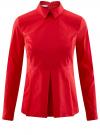 Блузка базовая с баской oodji #SECTION_NAME# (красный), 11400444B/42083/4502N