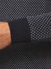Свитер прямого силуэта с контрастной отделкой oodji #SECTION_NAME# (синий), 4L312053M-1/25255N/7912J - вид 5