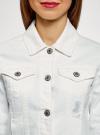 Куртка джинсовая oodji для женщины (белый), 11109037/49348/1000N - вид 4