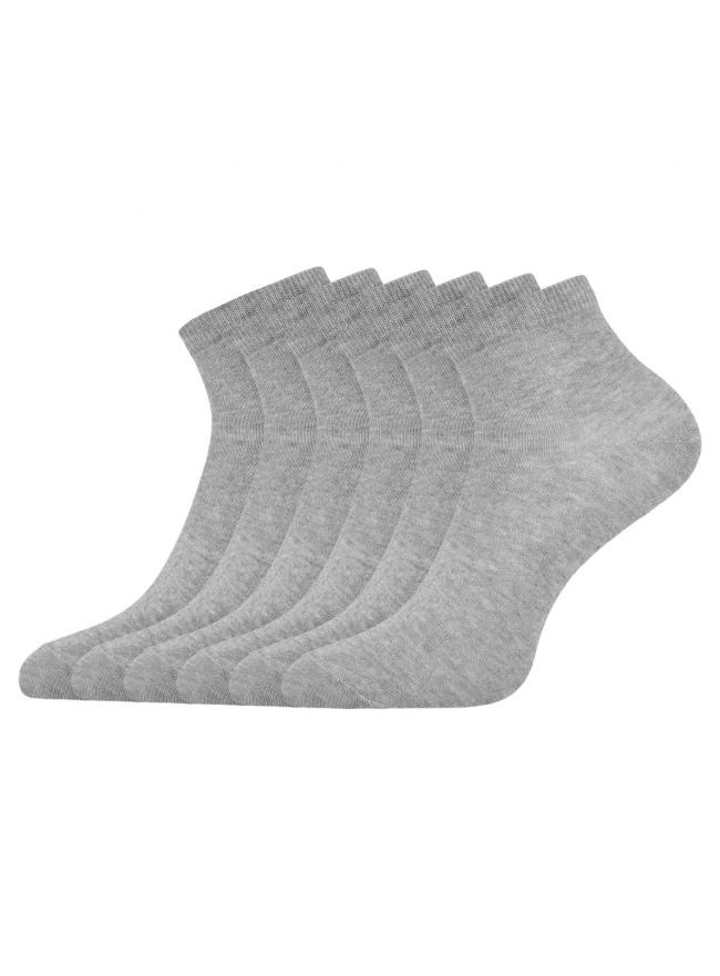 Комплект укороченных носков (6 пар) oodji для женщины (серый), 57102418T6/47469/2001M