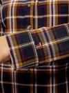 Рубашка принтованная хлопковая oodji для женщины (синий), 11406019/43593/7957C - вид 5