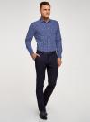 Рубашка принтованная приталенного силуэта oodji #SECTION_NAME# (синий), 3L310141M/46212N/7910E - вид 6