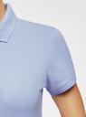 Поло базовое из ткани пике oodji для женщины (синий), 19301001-1B/46161/7000N