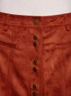 Юбка-трапеция из искусственной замши с заклепками oodji #SECTION_NAME# (красный), 18H05002/45778/4500N - вид 4