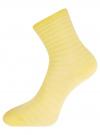 Комплект хлопковых носков в полоску (3 пары) oodji #SECTION_NAME# (желтый), 57102813T3/48022/4