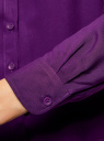 Блузка базовая из вискозы oodji #SECTION_NAME# (фиолетовый), 11411136B/26346/8801N - вид 5