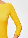 Футболка с рукавом 3/4 oodji #SECTION_NAME# (желтый), 24201010B/46147/5100N - вид 5