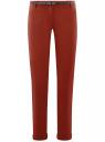 Брюки-чиносы с ремнем oodji для женщины (красный), 11706190-5B/32887/4903N