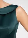 Платье из атласной ткани oodji #SECTION_NAME# (зеленый), 11902149/24393/6C00N - вид 5