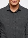 Рубашка хлопковая в мелкую графику oodji #SECTION_NAME# (черный), 3L110269M/44425N/2923G - вид 4