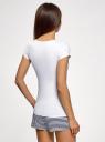 Пижама с шортами и принтом на груди oodji #SECTION_NAME# (белый), 56002188/46147/1075P - вид 3