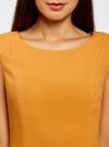 Платье из плотной ткани с овальным вырезом oodji для женщины (желтый), 11907004-2/31291/5200N - вид 4