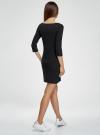 Платье трикотажное с принтом oodji #SECTION_NAME# (черный), 14001071-12/46148/2900P - вид 3