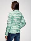 Куртка стеганая с круглым вырезом oodji для женщины (зеленый), 10204040-1B/42257/6560O - вид 3