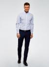 Рубашка принтованная из хлопка oodji для мужчины (синий), 3B110027M/19370N/1078G - вид 6