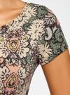Платье трикотажное с воланами oodji #SECTION_NAME# (зеленый), 14011017/46384/6233E - вид 5