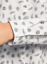 Блузка свободного силуэта с декоративными пуговицами на спине oodji для женщины (белый), 11401275/24681/1279O