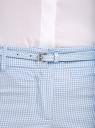 Брюки клетчатые с ремнем oodji #SECTION_NAME# (синий), 11703057-8/43273/1270C - вид 4
