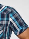 Рубашка клетчатая с нагрудными карманами oodji #SECTION_NAME# (синий), 3L410118M/34319N/796CC - вид 5