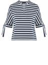 Блузка полосатая в морском стиле oodji #SECTION_NAME# (синий), 21408053-1/42888/7912S
