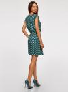 Платье принтованное из вискозы oodji #SECTION_NAME# (зеленый), 11910073-2/45470/6912D - вид 3