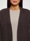 Кардиган вязаный удлиненный oodji #SECTION_NAME# (коричневый), 63207191/45921/3912M - вид 4