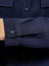 Блузка базовая из вискозы с нагрудными карманами oodji #SECTION_NAME# (синий), 11411127B/26346/7900N - вид 5
