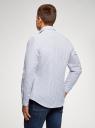 Рубашка приталенная из хлопка oodji #SECTION_NAME# (белый), 3L110364M/49093N/1075S - вид 3