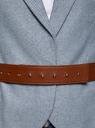 Жакет из фактурной ткани с широким ремнем oodji для женщины (синий), 21202076-4/46760/7970M