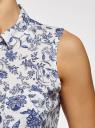 Топ вискозный с рубашечным воротником oodji #SECTION_NAME# (белый), 14911009B/26346/1279E - вид 5