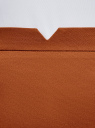 Юбка-карандаш хлопковая oodji #SECTION_NAME# (коричневый), 11600387-3/18854/3100N - вид 4