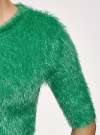 Джемпер ворсистый с коротким рукавом oodji для женщины (зеленый), 63807270-1/45514/6D00N - вид 5