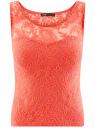 Топ кружевной oodji для женщины (красный), 14305008-2/45495/4300N