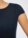 Платье-футляр с молнией на спине oodji для женщины (синий), 11902163/31291/7901N