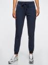 Комплект трикотажных брюк (2 пары) oodji #SECTION_NAME# (разноцветный), 16700030-15T2/47906/19NBN - вид 2