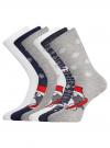 Комплект из шести пар хлопковых носков oodji #SECTION_NAME# (разноцветный), 57102902-4T6/10231/12 - вид 2