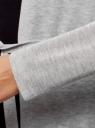 Кардиган вискозный тонкой вязки oodji #SECTION_NAME# (серый), 73212177-2/45648/2000M - вид 5