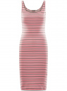 Платье-майка трикотажное oodji #SECTION_NAME# (розовый), 14015007-3B/37809/4123S