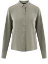 Блузка базовая из вискозы oodji для женщины (серый), 11411136B/26346/2301N